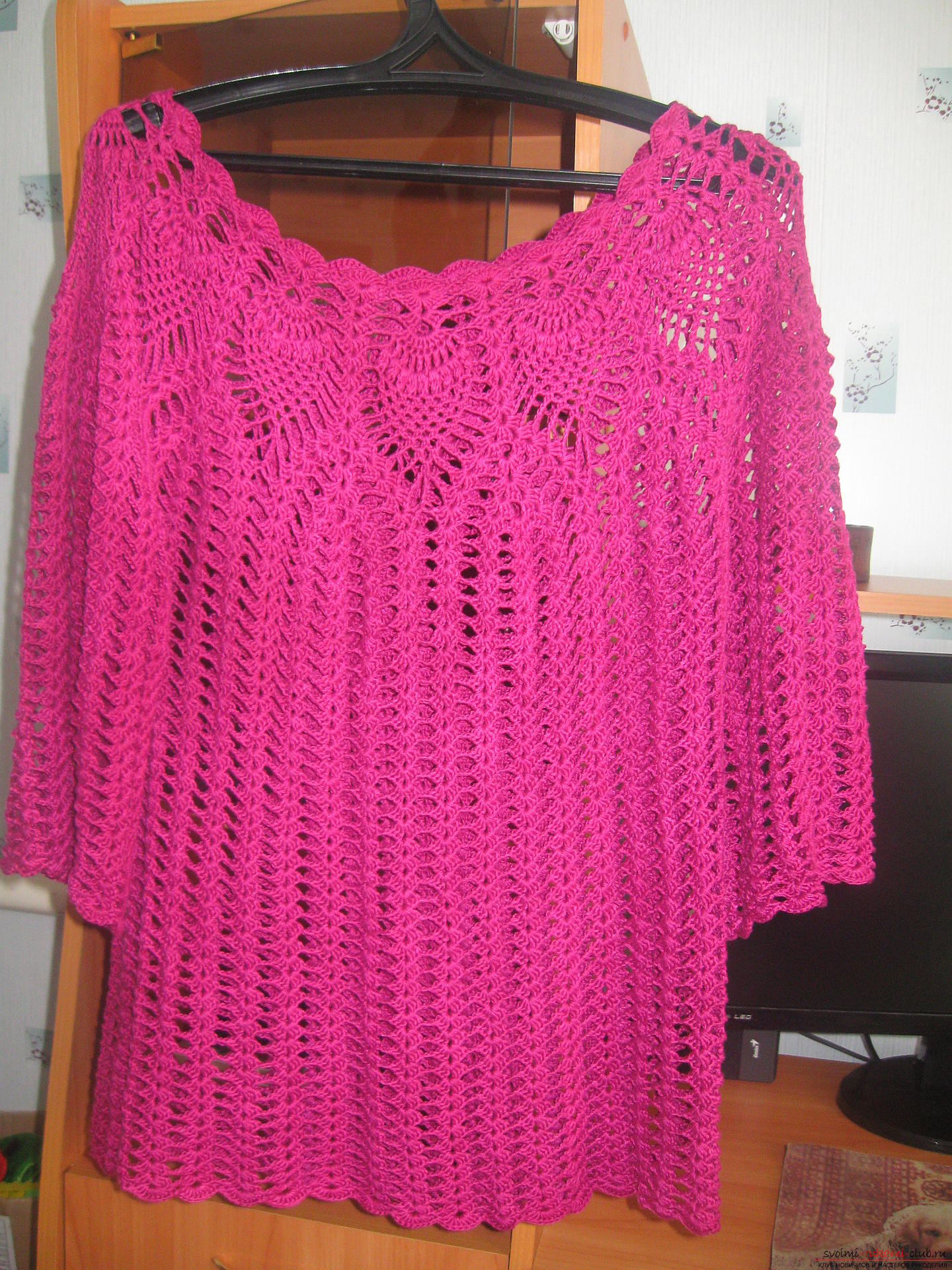Seamless knitted cotton blouse. Photo # 2