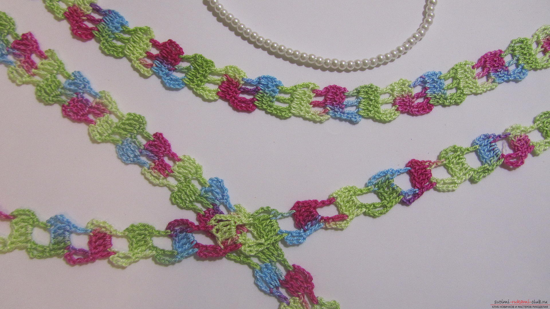 Master class on crocheting an openwork braid with a photo - scheme and description. Photo №1