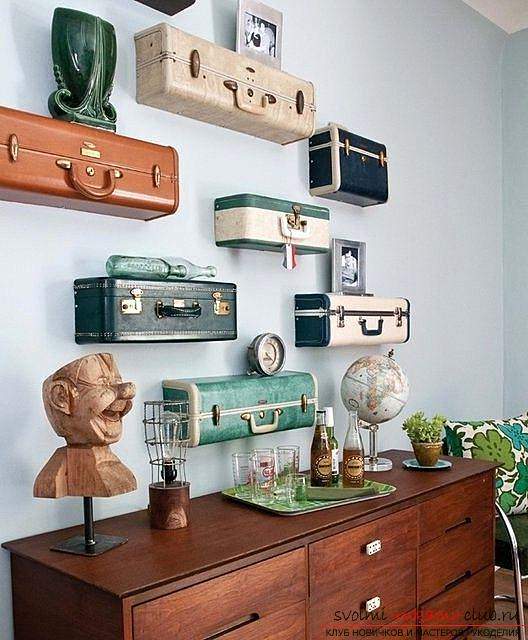 Decorative interior items, what to do from an old suitcase with their own hands .. Photo # 5