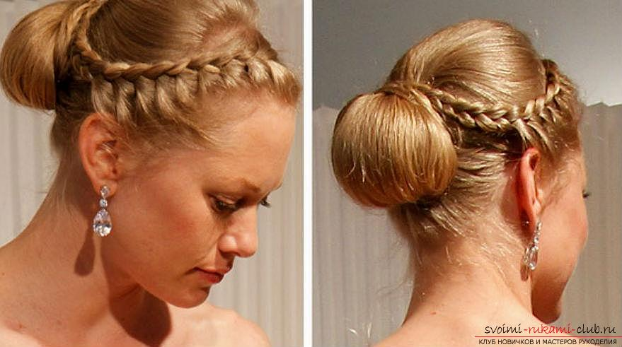 How to make a beautiful hairstyle on medium hair for a celebration with your own hands. Photo №4
