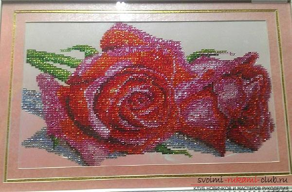 Interesting master classes of diamond embroidery with rhinestones. Photo №1