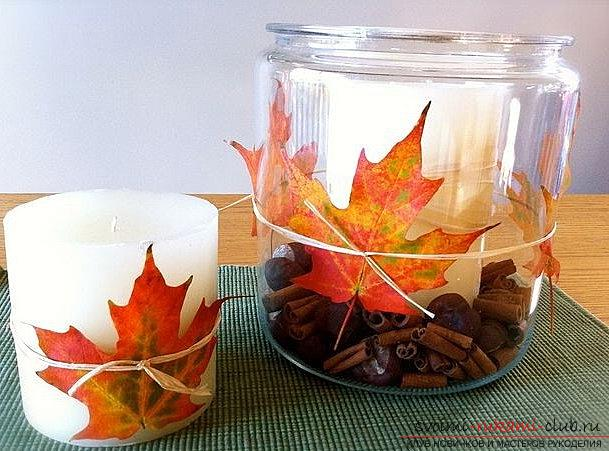 Crafts from maple leaves with their own hands: several lessons. Photo Number 9