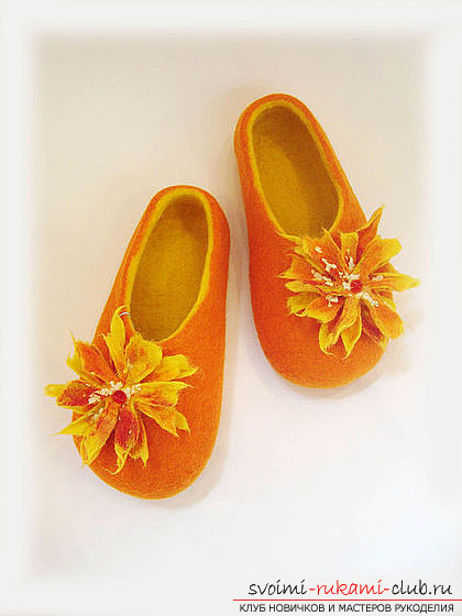 How to sew a cozy slippers with your own hands. Step-by-step description of the work. Photo №1