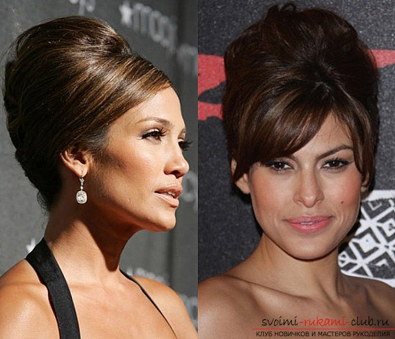 Women's, home hairstyles with their own hands: photos of works at home. Photo №4