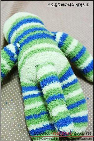 Soft toy monkey, sewn from terry socks. Picture №10
