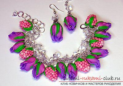 A gift by March 8 in the form of jewelry made of polymer clay. Photo Number 11