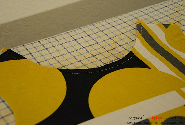 We sew a direct summer dress without a pattern by our own hands. Photo Number 9