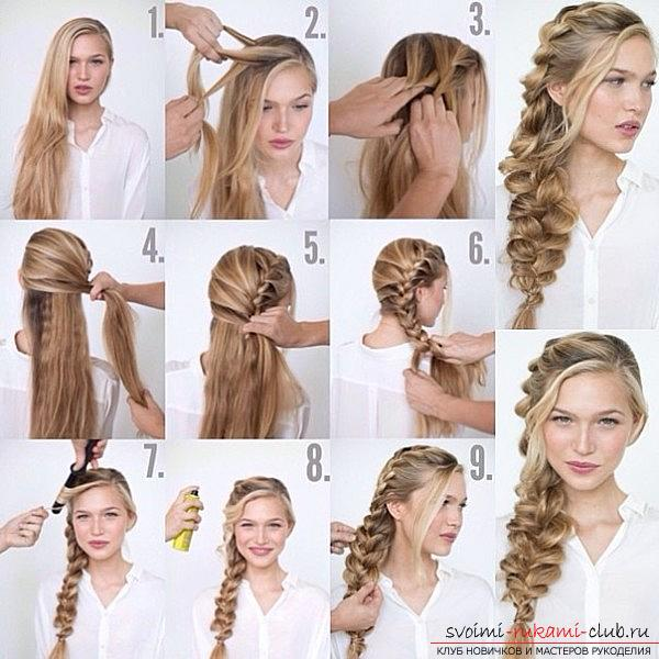 Lessons on the execution of fashionable in 2016 hairstyles on medium hair with their own hands. Photo №1
