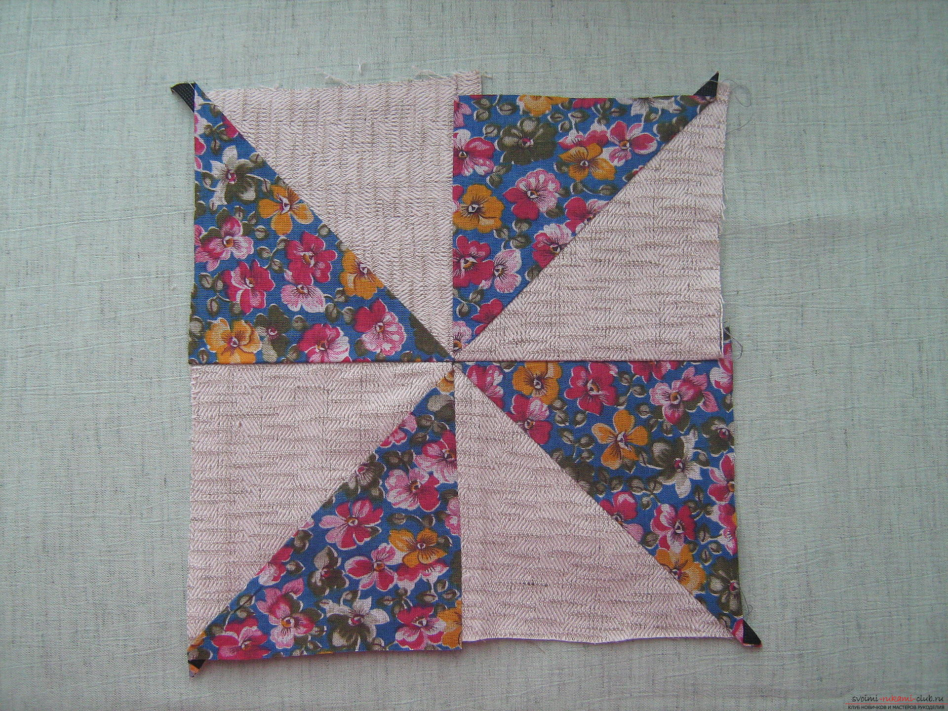 Patchwork patterns and ways of assembling when sewing from triangles. Photo №6
