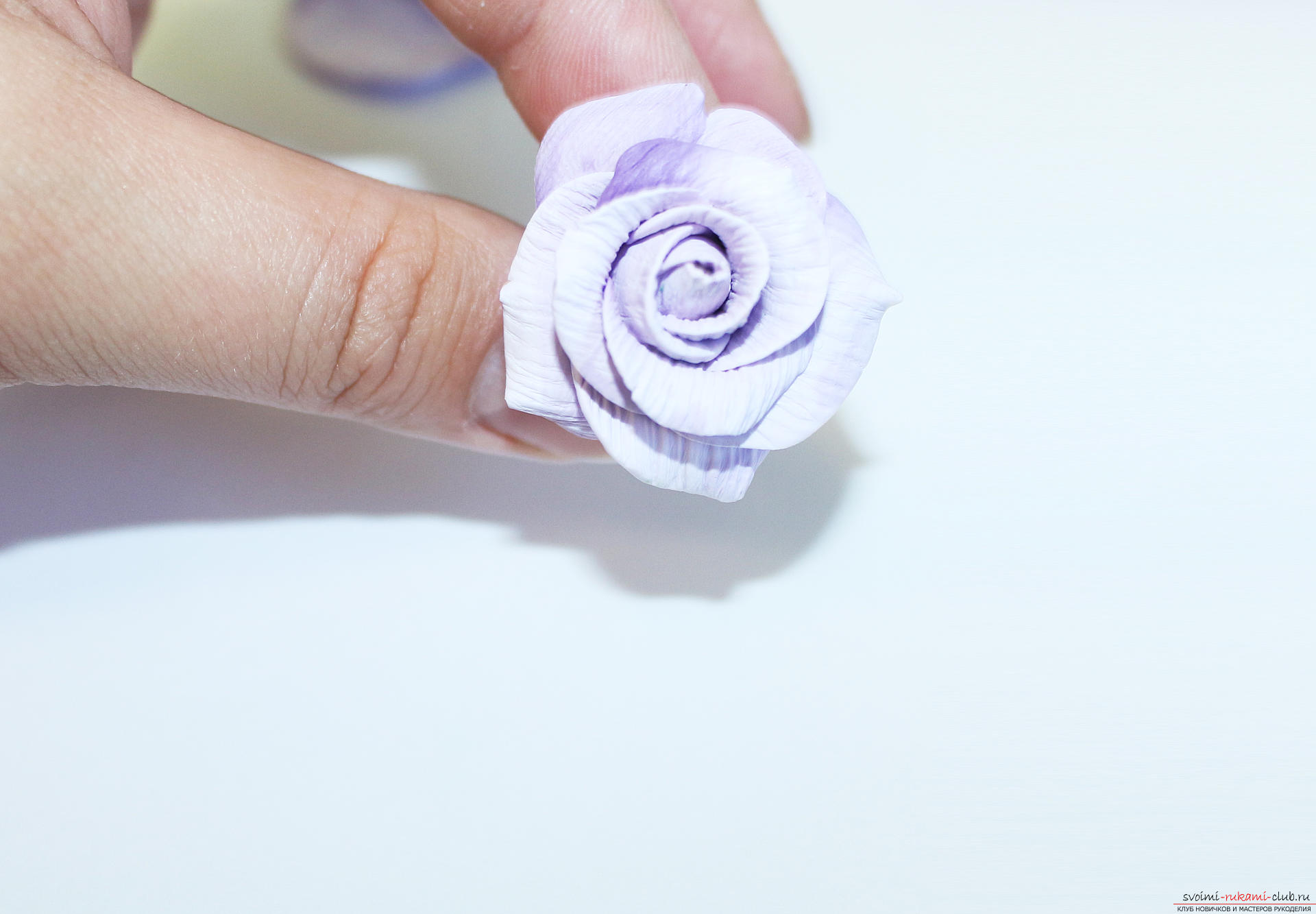 This master class with photo and description will teach you how to make flowers - roses - from polymer clay in texturing technique. Picture №35