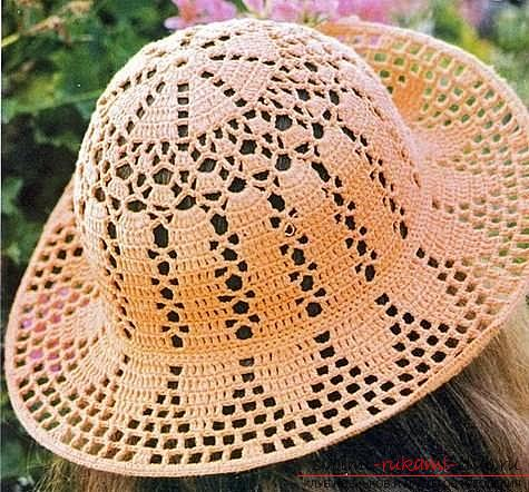 Schemes and a description of how to crochet a summer hat for a woman, photo items .. Photo # 5