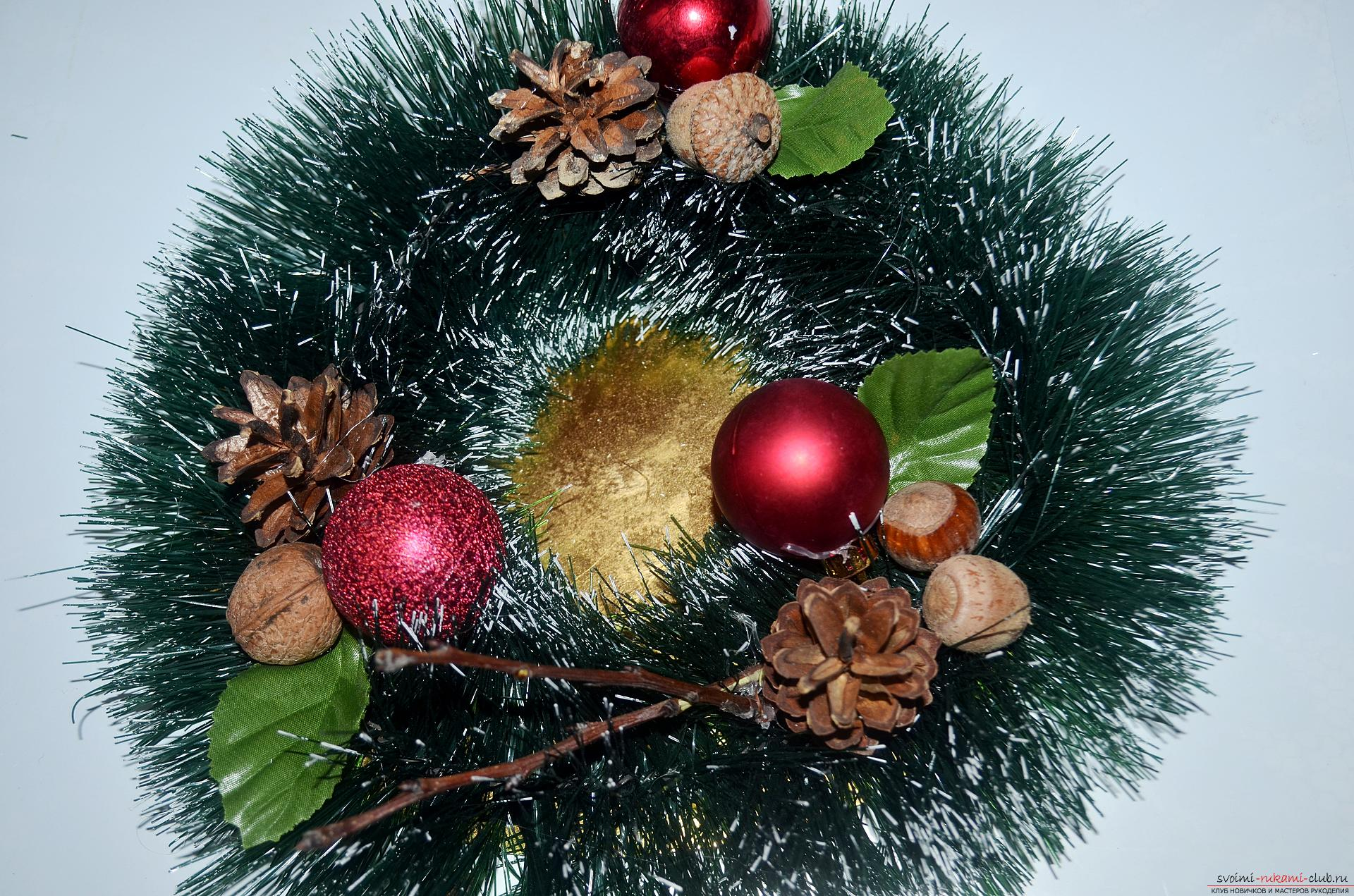 The master class will tell you how to make your own handiwork - a Christmas song with a candle. Photo №6