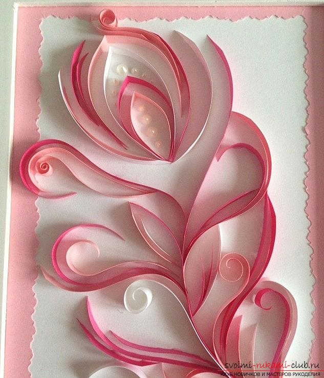 Perot with pearls - quilling pictures with photos and master class. Photo №13