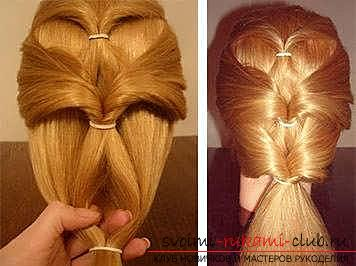 Masterclasses to create fashionable hairstyles on medium-length hair with their own hands for 5 minutes. Picture №10