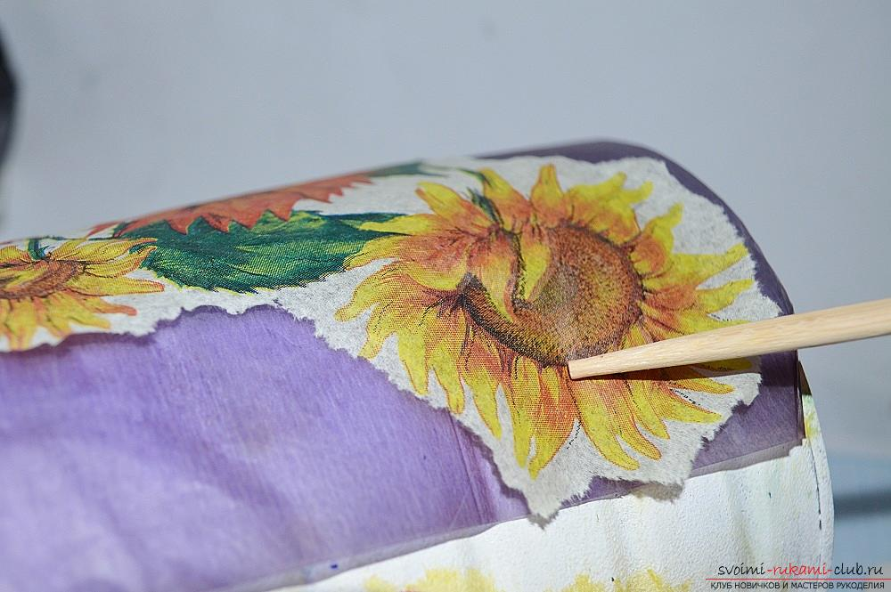 Photos for the lesson on decoupage banks. Picture №10