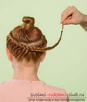 We learn to make a hairdo for the wedding with our own hands. Picture №10