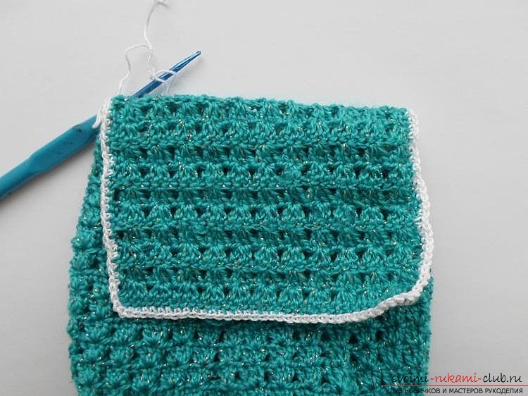 We knit the bag crocheted. Photo number 12