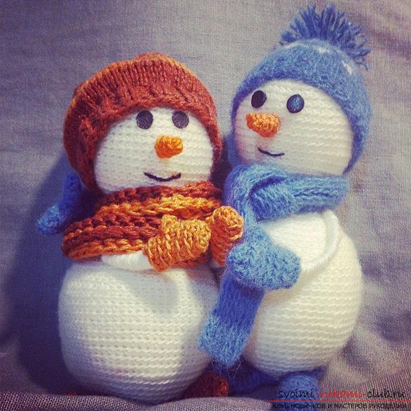 Bright snowman with amigurumi crochet with description and photo. Photo №8