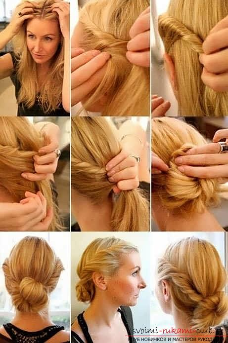 We learn to make fast and beautiful hairstyles with our own hands with a photo. Photo Number 14