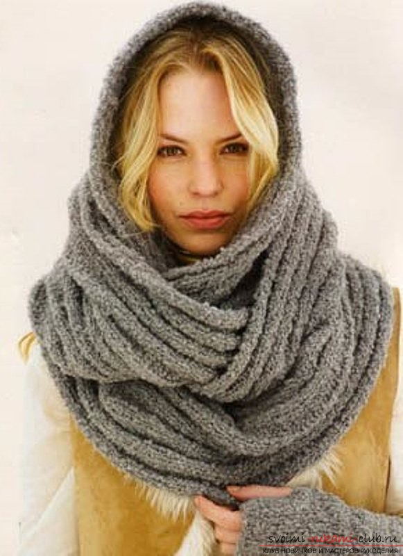 Knitted scarf-tube. Photo №5