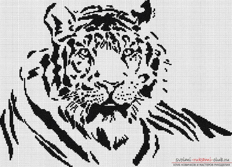 Black and white cross stitch patterns with description. Picture №3