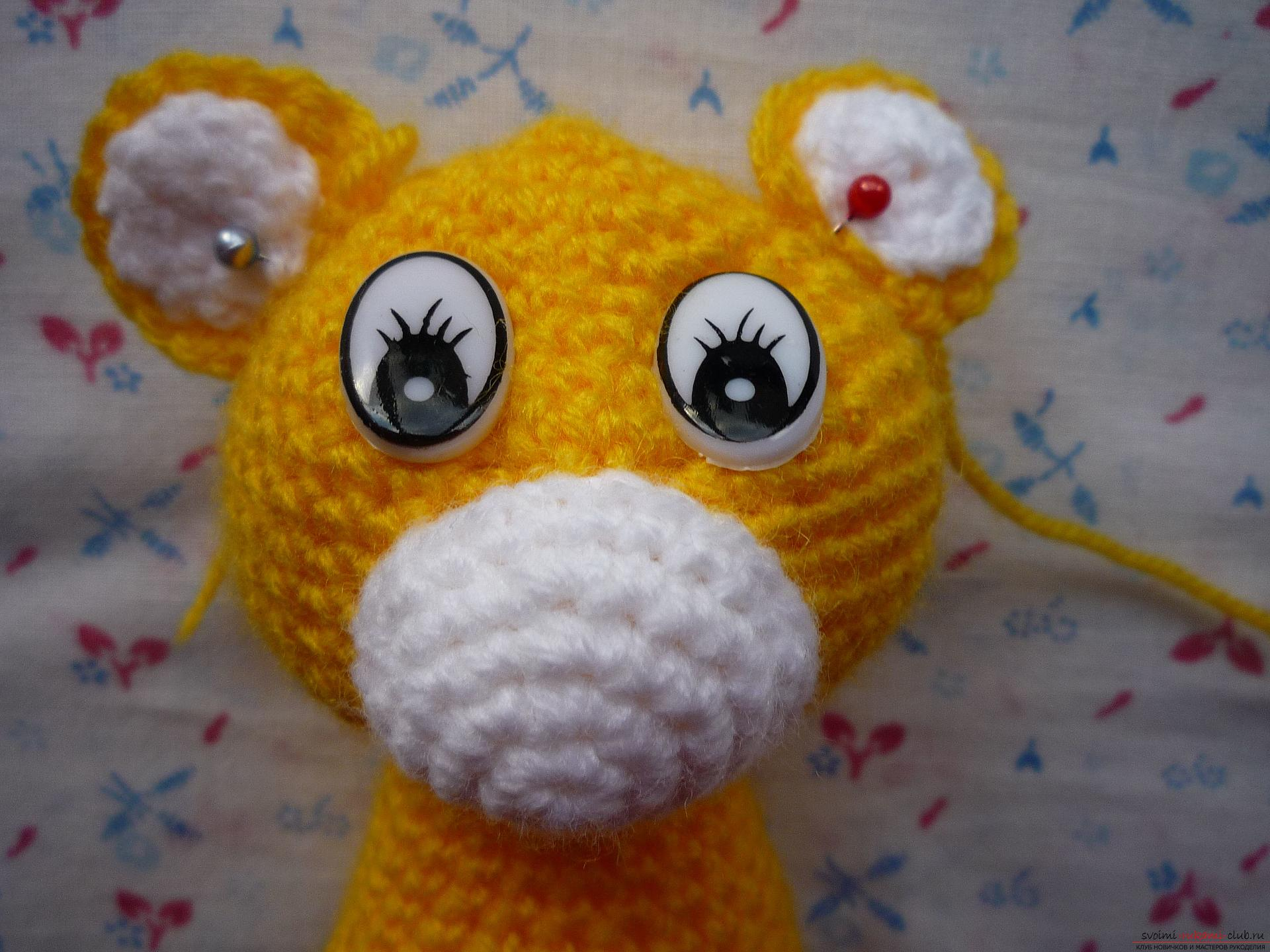 This master class of soft toys will teach crochet teddy bear Amigurumi. Photo Number 22