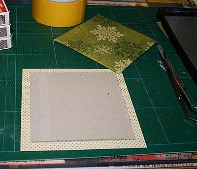 Christmas box for storing things - a hand-crafted scrapbooking technique. Picture №3