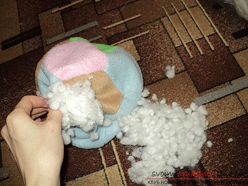 Sewing soft ball for baby. Photo №6