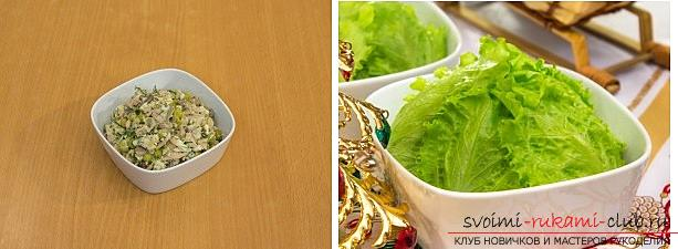 How to cook, and most importantly, to decorate a salad for the New Year's celebration, recipes with step-by-step photos and a description of the work. Photo №4