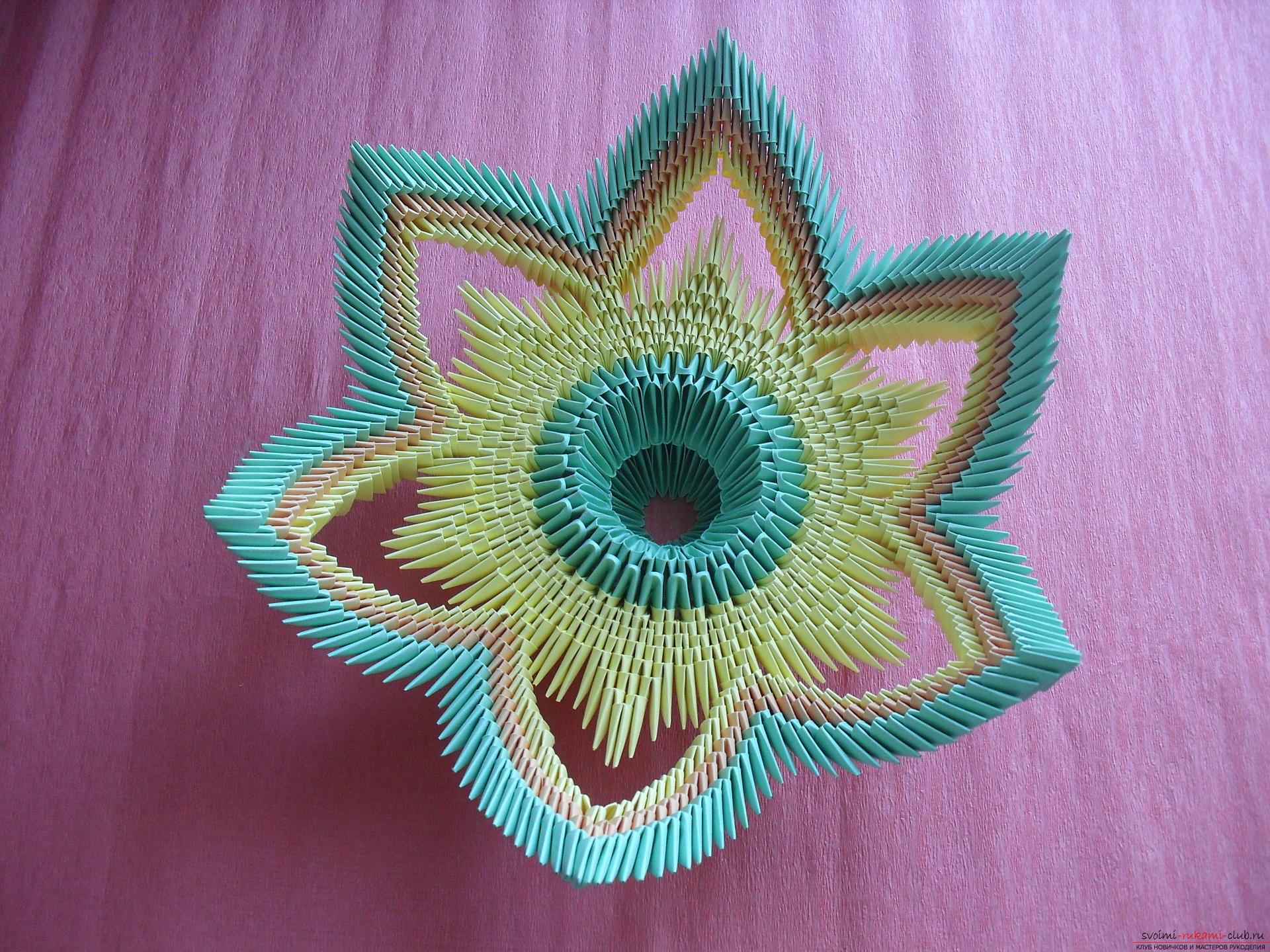 Цей майстер-клас навчить як зробити вазу своїми руками з модульного орігамі .. Фото №14
