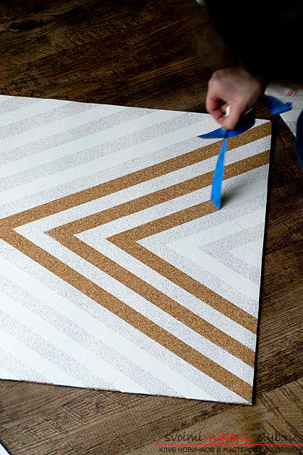 Step-by-step instructions for the manufacture of slate and cork wallboards for records .. Photo # 6
