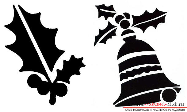 New-year stencils on windows, how to decorate a window with paper elements, how to make and what are the ways of using New Year stencils on windows .. Photo # 12