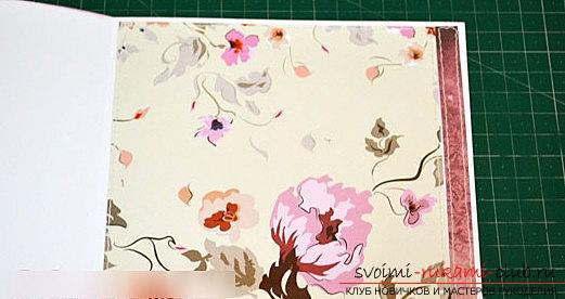 Scrapbooking postcards for birthday present - multilayer postcard. Photo №4