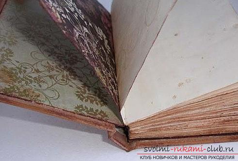 How to make scrapbooking notebook in vintage technique? Master class with their own hands. Photo Number 9