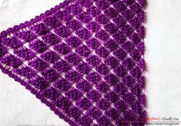 How to tie a wonderful grape shawl with your own hands. Photo №1