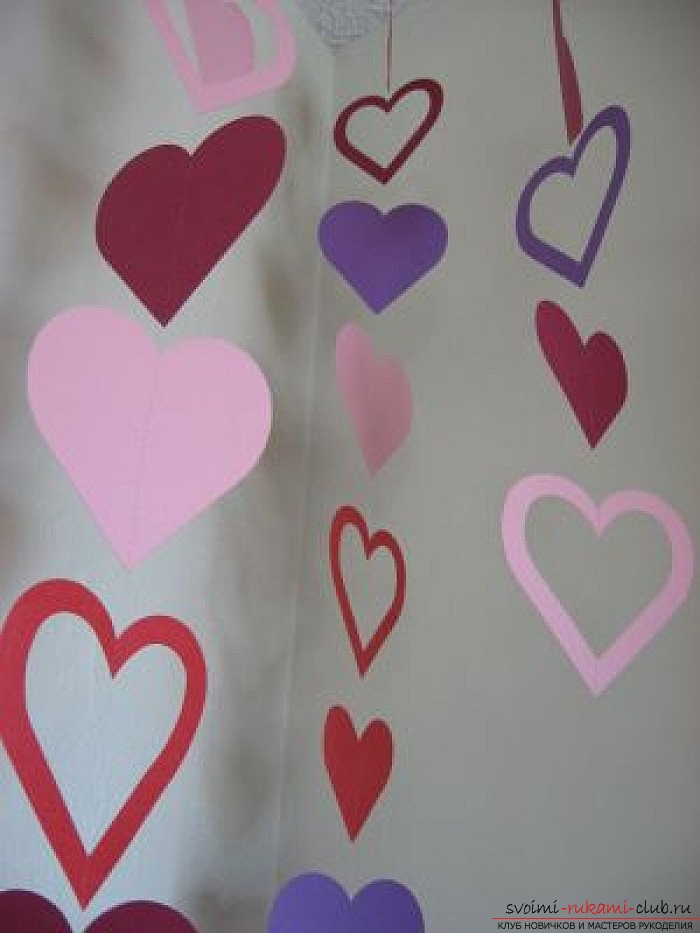We make valentines with our own hands. Photo №13