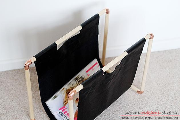 Tips and advice on making an original stand for magazines with their own hands .. Photo # 5