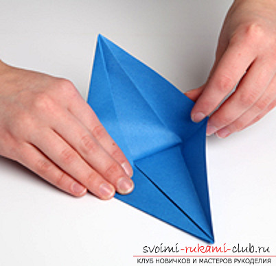Blue dragon origami. Photo №7