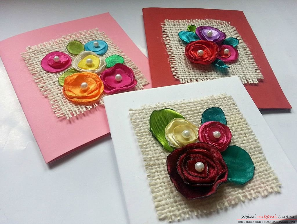 Simple postcards that you can do with your own hands. Photos of examples of postcards .. Photo №1