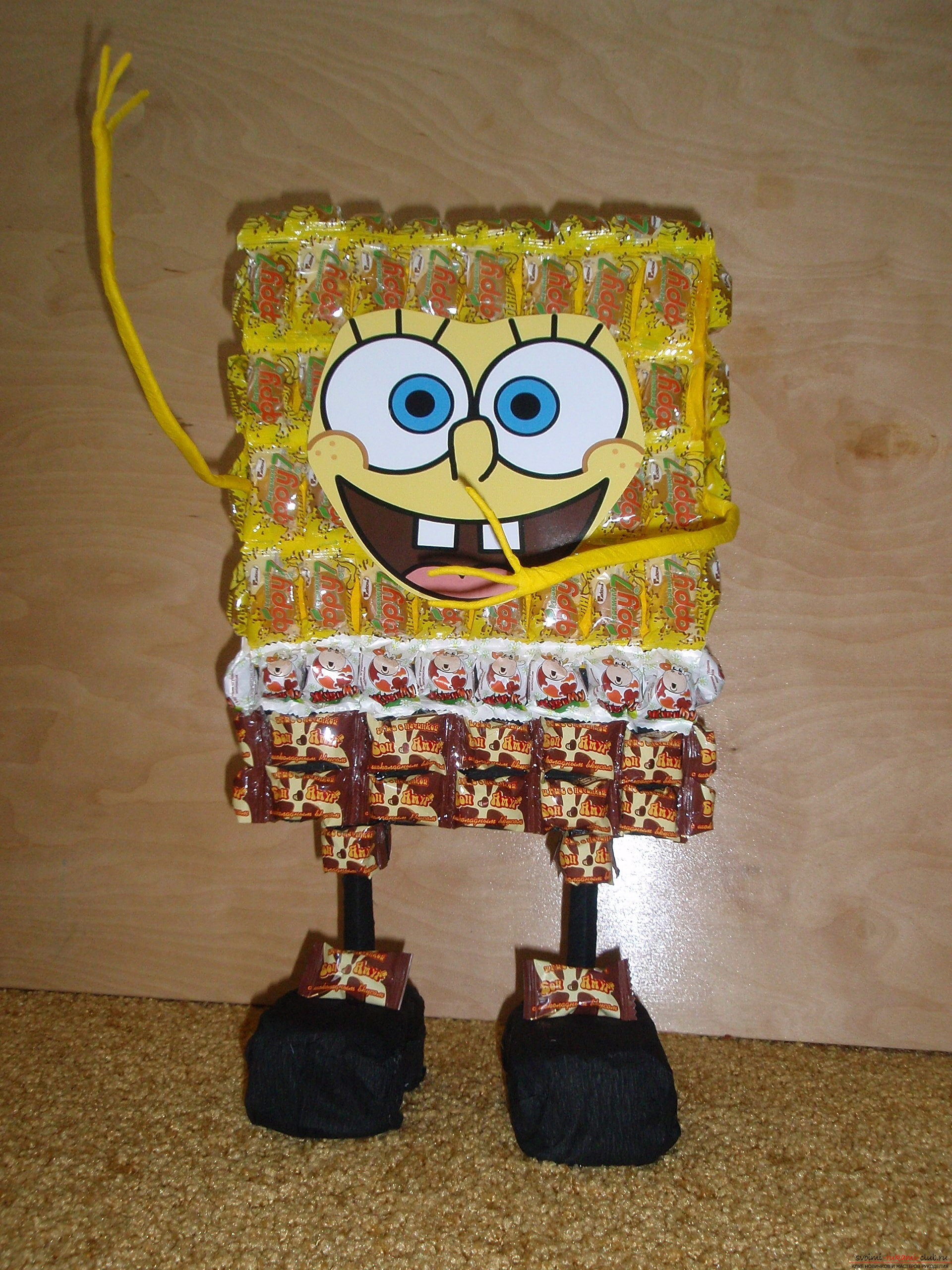 Candy toys made by own hands. Interesting ideas and pictures of toys .. Photo №1
