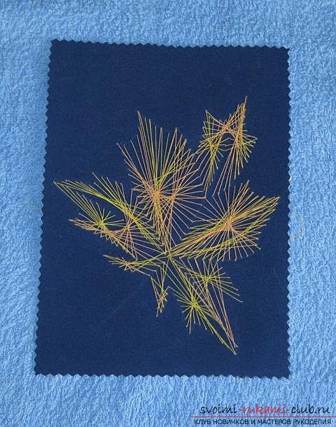 """We embroider the autumn leaf in the technique of """"isolate"""". Photo Number 19"""