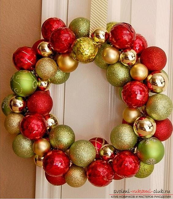 How to make a Christmas wreath by yourself .. Picture №10