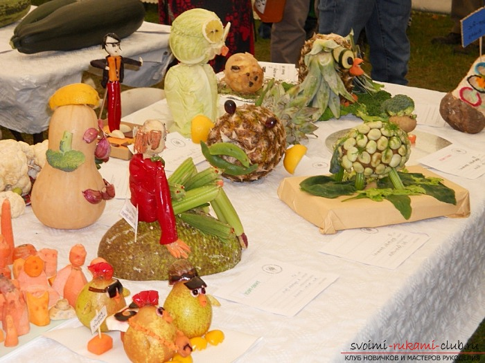 Interesting crafts from vegetables with their own hands. Photo №1