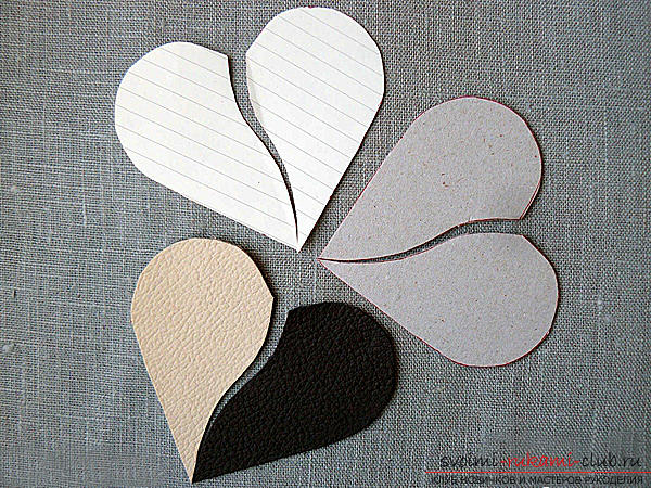 Valentine's Day gifts with your own hands, various variations of making Valentine's cards with your own hands, a magnet in the form of a heart as a gift to your beloved .. Photo №16