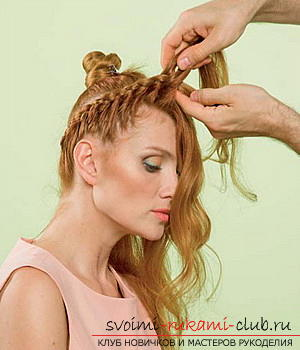 We learn to make a hairdo for the wedding with our own hands. Photo Number 9