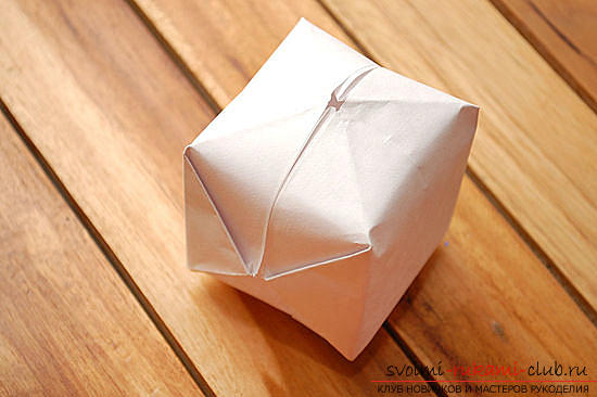 3D cube in origami technique. Photo Number 9