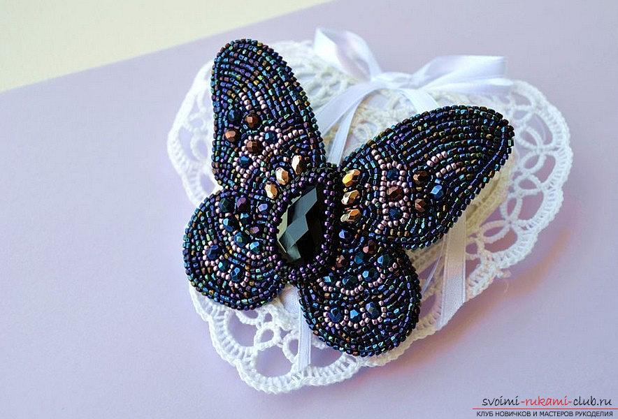 How to make a butterfly from beads according to the scheme? Hand-made beadwork. Picture №3