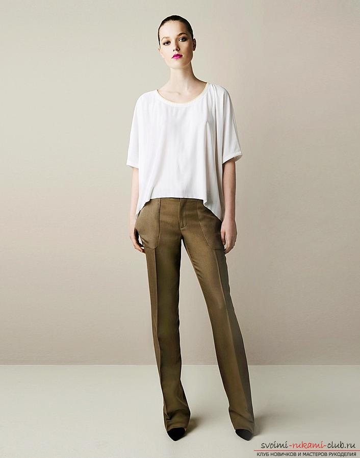 Pattern of classic trousers for women. Photo №1