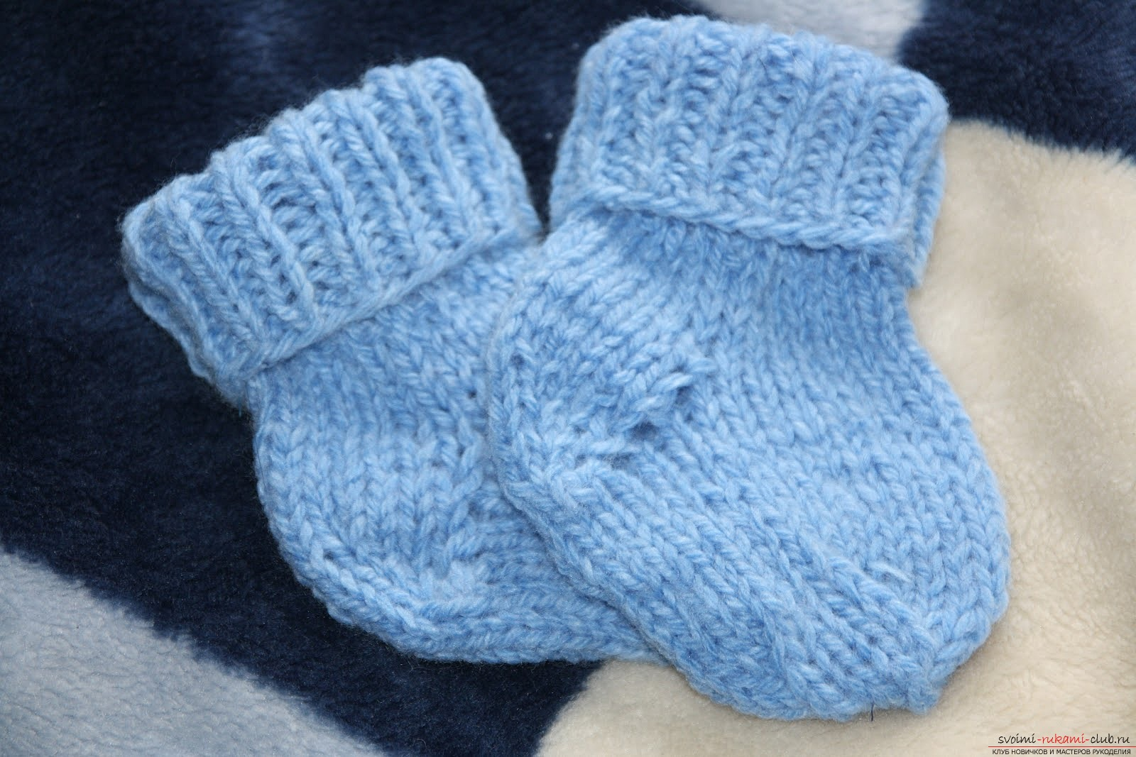 We knit warm socks for the child. Master class for beginner needlewomen with a photo. Photo №1