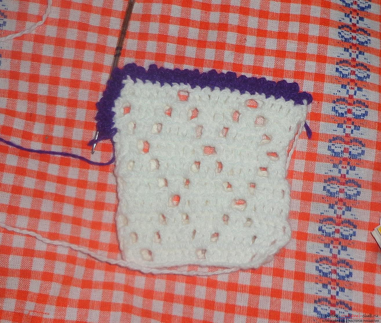 Photo to the lesson on crocheting of the stand under the hot